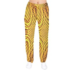Patterned Wallpapers Drawstring Pants