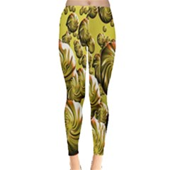 Melting Gold Drops Brighten Version Abstract Pattern Revised Edition Leggings