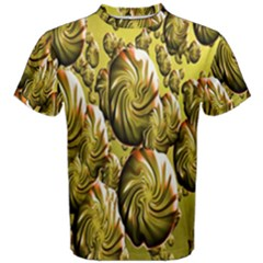 Melting Gold Drops Brighten Version Abstract Pattern Revised Edition Men s Cotton Tee
