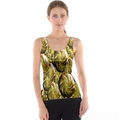 Melting Gold Drops Brighten Version Abstract Pattern Revised Edition Tank Top
