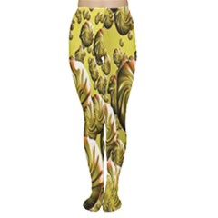 Melting Gold Drops Brighten Version Abstract Pattern Revised Edition Women s Tights