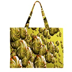 Melting Gold Drops Brighten Version Abstract Pattern Revised Edition Zipper Large Tote Bag