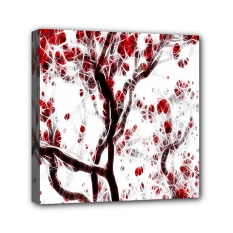 Tree Art Artistic Abstract Background Mini Canvas 6  X 6