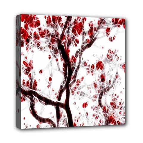 Tree Art Artistic Abstract Background Mini Canvas 8  x 8