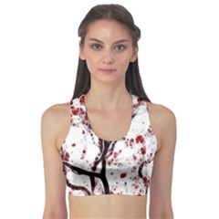 Tree Art Artistic Abstract Background Sports Bra