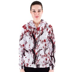Tree Art Artistic Abstract Background Women s Zipper Hoodie