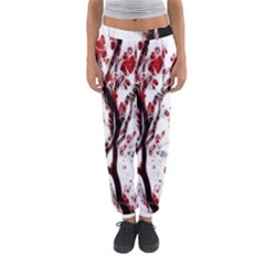 Tree Art Artistic Abstract Background Women s Jogger Sweatpants