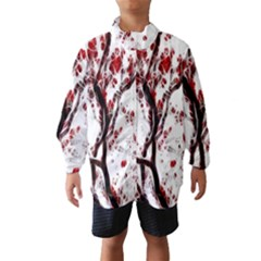 Tree Art Artistic Abstract Background Wind Breaker (kids)