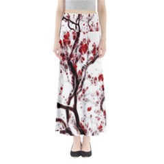 Tree Art Artistic Abstract Background Maxi Skirts