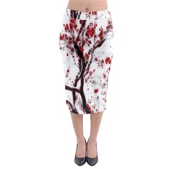Tree Art Artistic Abstract Background Midi Pencil Skirt