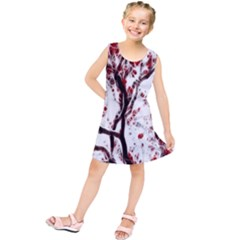 Tree Art Artistic Abstract Background Kids  Tunic Dress