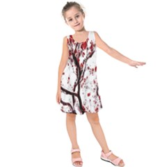 Tree Art Artistic Abstract Background Kids  Sleeveless Dress