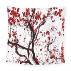 Tree Art Artistic Abstract Background Square Tapestry (large)