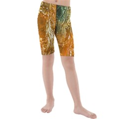 Light Effect Abstract Background Wallpaper Kids  Mid Length Swim Shorts