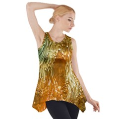 Light Effect Abstract Background Wallpaper Side Drop Tank Tunic