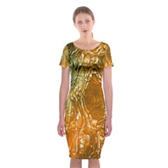 Light Effect Abstract Background Wallpaper Classic Short Sleeve Midi Dress