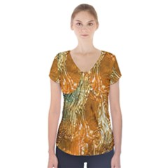 Light Effect Abstract Background Wallpaper Short Sleeve Front Detail Top