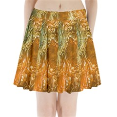 Light Effect Abstract Background Wallpaper Pleated Mini Skirt