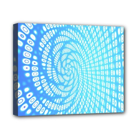Abstract Pattern Neon Glow Background Canvas 10  X 8