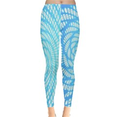 Abstract Pattern Neon Glow Background Leggings