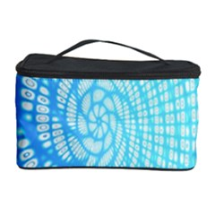Abstract Pattern Neon Glow Background Cosmetic Storage Case