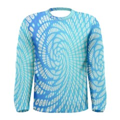 Abstract Pattern Neon Glow Background Men s Long Sleeve Tee