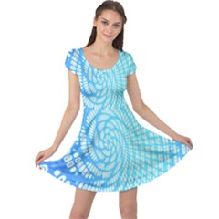 Abstract Pattern Neon Glow Background Cap Sleeve Dresses