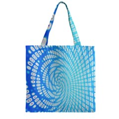 Abstract Pattern Neon Glow Background Zipper Grocery Tote Bag