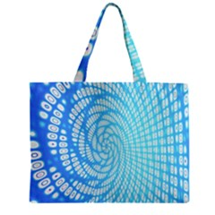 Abstract Pattern Neon Glow Background Zipper Mini Tote Bag