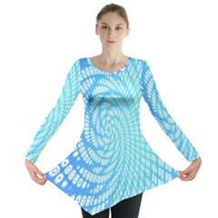 Abstract Pattern Neon Glow Background Long Sleeve Tunic