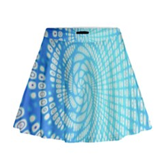 Abstract Pattern Neon Glow Background Mini Flare Skirt