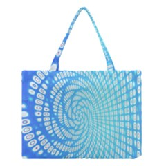 Abstract Pattern Neon Glow Background Medium Tote Bag