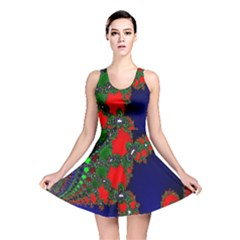 Recurring Circles In Shape Of Amphitheatre Reversible Skater Dress
