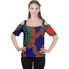 Recurring Circles In Shape Of Amphitheatre Women s Cutout Shoulder Tee