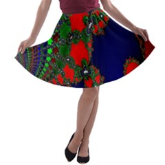 Recurring Circles In Shape Of Amphitheatre A Line Skater Skirt