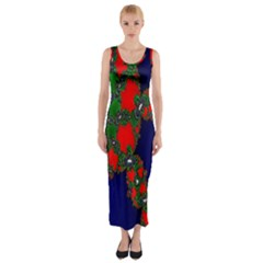 Recurring Circles In Shape Of Amphitheatre Fitted Maxi Dress