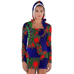 Recurring Circles In Shape Of Amphitheatre Women s Long Sleeve Hooded T Shirt