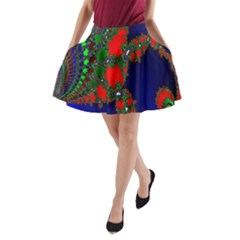Recurring Circles In Shape Of Amphitheatre A Line Pocket Skirt