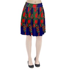 Recurring Circles In Shape Of Amphitheatre Pleated Skirt