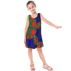 Recurring Circles In Shape Of Amphitheatre Kids  Sleeveless Dress