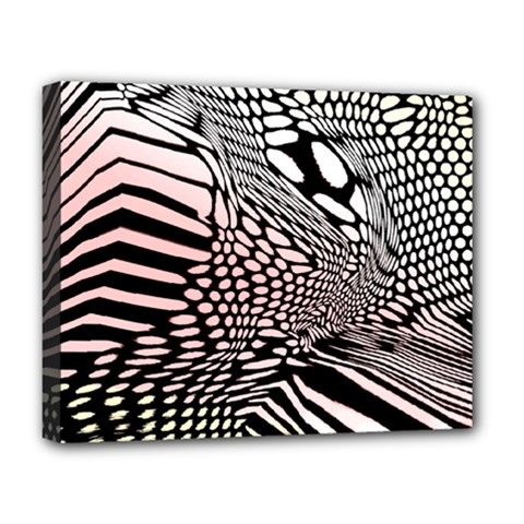 Abstract Fauna Pattern When Zebra And Giraffe Melt Together Deluxe Canvas 20  X 16