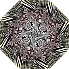 Abstract Fauna Pattern When Zebra And Giraffe Melt Together Hook Handle Umbrellas (small)