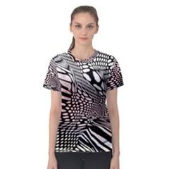 Abstract Fauna Pattern When Zebra And Giraffe Melt Together Women s Sport Mesh Tee