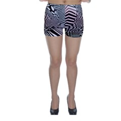Abstract Fauna Pattern When Zebra And Giraffe Melt Together Skinny Shorts