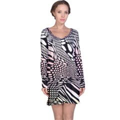 Abstract Fauna Pattern When Zebra And Giraffe Melt Together Long Sleeve Nightdress