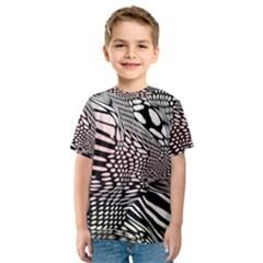 Abstract Fauna Pattern When Zebra And Giraffe Melt Together Kids  Sport Mesh Tee