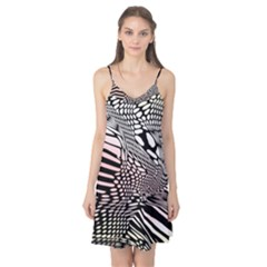 Abstract Fauna Pattern When Zebra And Giraffe Melt Together Camis Nightgown