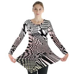 Abstract Fauna Pattern When Zebra And Giraffe Melt Together Long Sleeve Tunic