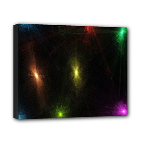 Star Lights Abstract Colourful Star Light Background Canvas 10  X 8