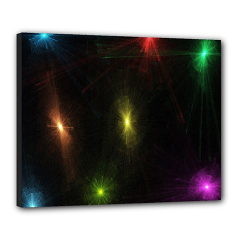 Star Lights Abstract Colourful Star Light Background Canvas 20  X 16